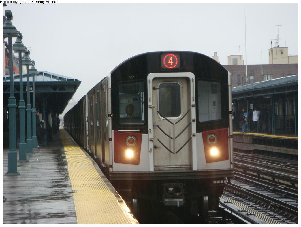 (188k, 1044x788)<br><b>Country:</b> United States<br><b>City:</b> New York<br><b>System:</b> New York City Transit<br><b>Line:</b> IRT Woodlawn Line<br><b>Location:</b> 161st Street/River Avenue (Yankee Stadium) <br><b>Route:</b> 4<br><b>Car:</b> R-142 or R-142A (Number Unknown)  <br><b>Photo by:</b> Danny Molina<br><b>Date:</b> 3/20/2008<br><b>Viewed (this week/total):</b> 1 / 2111