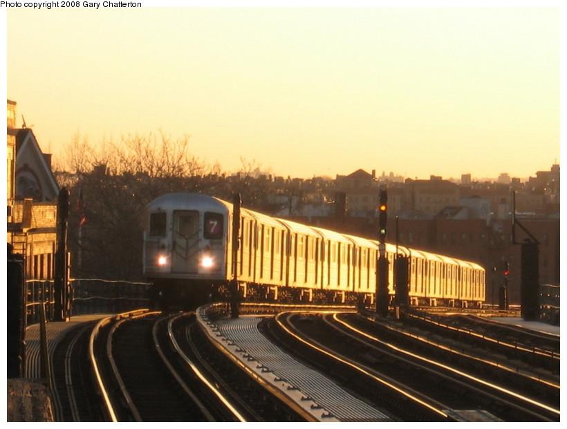 (114k, 820x620)<br><b>Country:</b> United States<br><b>City:</b> New York<br><b>System:</b> New York City Transit<br><b>Line:</b> IRT Flushing Line<br><b>Location:</b> 52nd Street/Lincoln Avenue <br><b>Route:</b> 7<br><b>Car:</b> R-62A (Bombardier, 1984-1987)  1820 <br><b>Photo by:</b> Gary Chatterton<br><b>Date:</b> 3/29/2008<br><b>Viewed (this week/total):</b> 0 / 1363