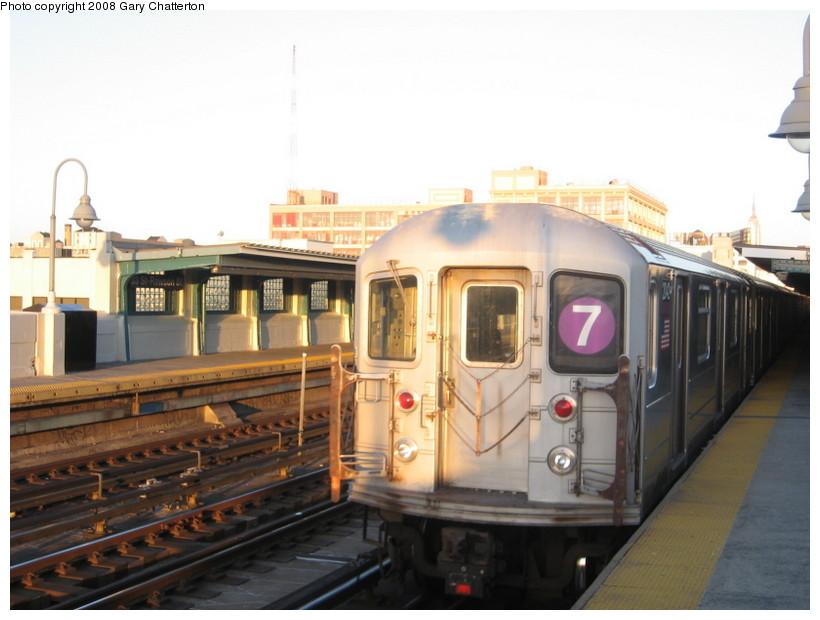 (113k, 820x620)<br><b>Country:</b> United States<br><b>City:</b> New York<br><b>System:</b> New York City Transit<br><b>Line:</b> IRT Flushing Line<br><b>Location:</b> 52nd Street/Lincoln Avenue <br><b>Route:</b> 7<br><b>Car:</b> R-62A (Bombardier, 1984-1987)  2042 <br><b>Photo by:</b> Gary Chatterton<br><b>Date:</b> 3/29/2008<br><b>Viewed (this week/total):</b> 4 / 1620