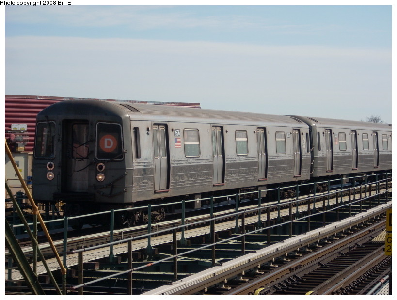 (165k, 819x619)<br><b>Country:</b> United States<br><b>City:</b> New York<br><b>System:</b> New York City Transit<br><b>Line:</b> BMT West End Line<br><b>Location:</b> 62nd Street <br><b>Route:</b> D<br><b>Car:</b> R-68 (Westinghouse-Amrail, 1986-1988)  2626 <br><b>Photo by:</b> Bill E.<br><b>Date:</b> 3/23/2008<br><b>Viewed (this week/total):</b> 2 / 1236
