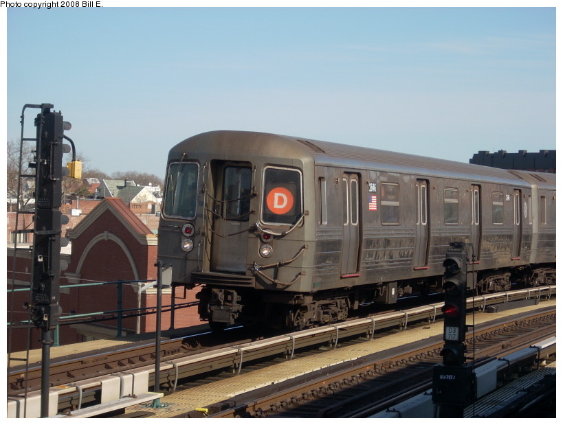 (157k, 819x619)<br><b>Country:</b> United States<br><b>City:</b> New York<br><b>System:</b> New York City Transit<br><b>Line:</b> BMT West End Line<br><b>Location:</b> 25th Avenue <br><b>Route:</b> D<br><b>Car:</b> R-68 (Westinghouse-Amrail, 1986-1988)  2646 <br><b>Photo by:</b> Bill E.<br><b>Date:</b> 3/23/2008<br><b>Viewed (this week/total):</b> 2 / 1419