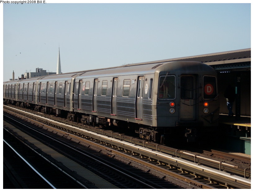 (150k, 819x619)<br><b>Country:</b> United States<br><b>City:</b> New York<br><b>System:</b> New York City Transit<br><b>Line:</b> BMT West End Line<br><b>Location:</b> 25th Avenue <br><b>Route:</b> D<br><b>Car:</b> R-68 (Westinghouse-Amrail, 1986-1988)  2704 <br><b>Photo by:</b> Bill E.<br><b>Date:</b> 3/23/2008<br><b>Viewed (this week/total):</b> 0 / 1312
