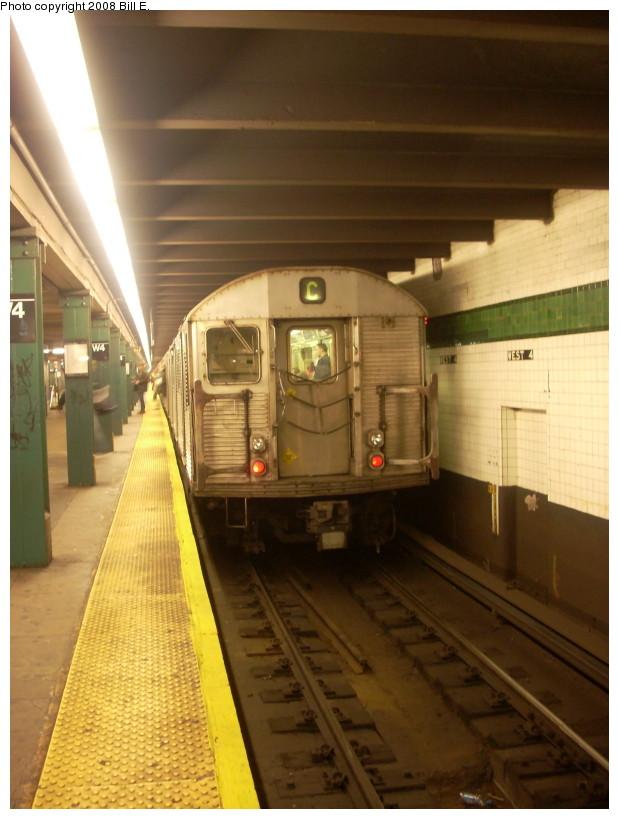(149k, 619x819)<br><b>Country:</b> United States<br><b>City:</b> New York<br><b>System:</b> New York City Transit<br><b>Line:</b> IND 8th Avenue Line<br><b>Location:</b> West 4th Street/Washington Square <br><b>Route:</b> C<br><b>Car:</b> R-32 (Budd, 1964)   <br><b>Photo by:</b> Bill E.<br><b>Date:</b> 3/16/2008<br><b>Viewed (this week/total):</b> 1 / 1547