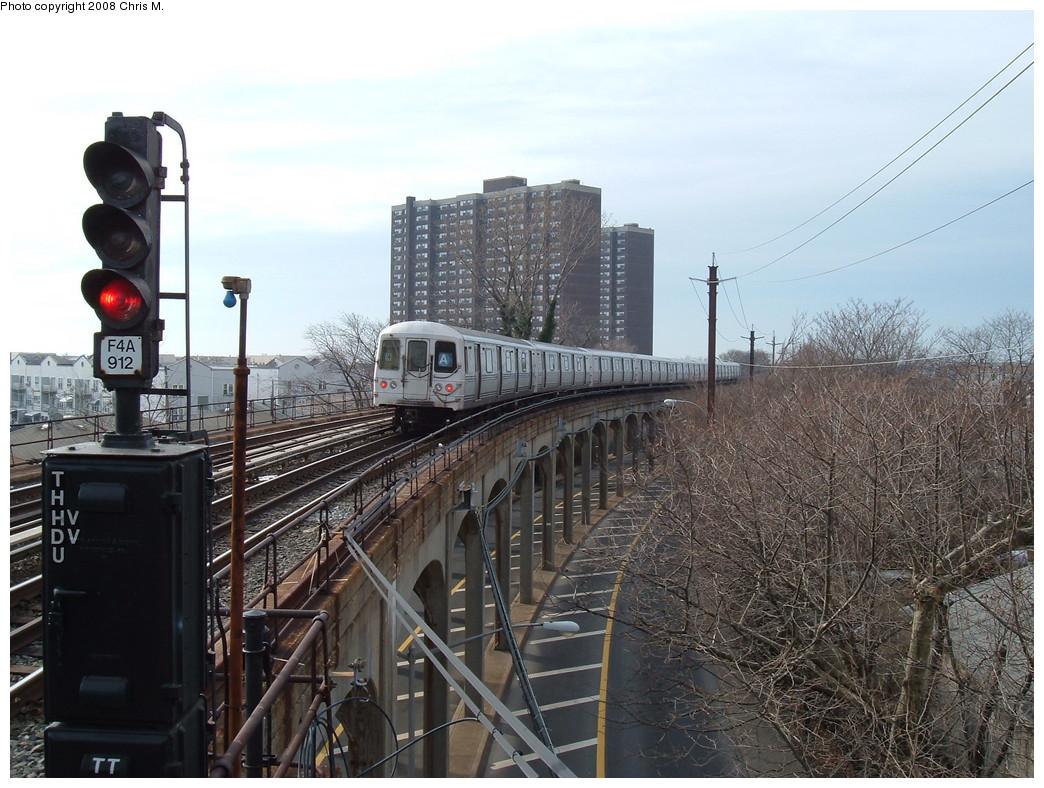 (249k, 1044x788)<br><b>Country:</b> United States<br><b>City:</b> New York<br><b>System:</b> New York City Transit<br><b>Line:</b> IND Rockaway<br><b>Location:</b> Beach 25th Street/Wavecrest <br><b>Route:</b> A<br><b>Car:</b> R-44 (St. Louis, 1971-73)  <br><b>Photo by:</b> Chris M.<br><b>Date:</b> 1/29/2008<br><b>Viewed (this week/total):</b> 0 / 2021