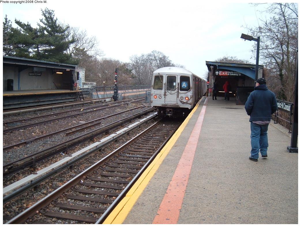 (300k, 1044x788)<br><b>Country:</b> United States<br><b>City:</b> New York<br><b>System:</b> New York City Transit<br><b>Line:</b> IND Rockaway<br><b>Location:</b> Aqueduct/North Conduit Avenue <br><b>Route:</b> A<br><b>Car:</b> R-44 (St. Louis, 1971-73)  <br><b>Photo by:</b> Chris M.<br><b>Date:</b> 1/29/2008<br><b>Viewed (this week/total):</b> 1 / 1481