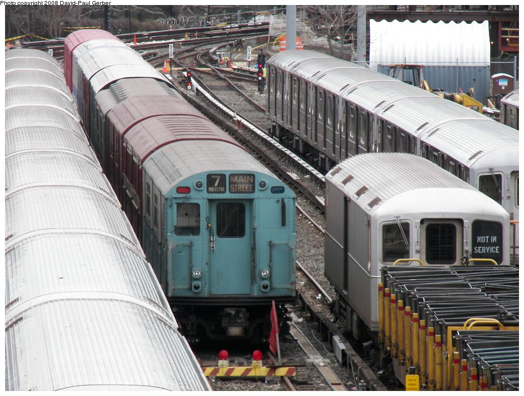 (310k, 1044x788)<br><b>Country:</b> United States<br><b>City:</b> New York<br><b>System:</b> New York City Transit<br><b>Location:</b> Corona Yard<br><b>Car:</b> R-33 World's Fair (St. Louis, 1963-64) 9306 <br><b>Photo by:</b> David-Paul Gerber<br><b>Date:</b> 4/6/2008<br><b>Viewed (this week/total):</b> 4 / 1903