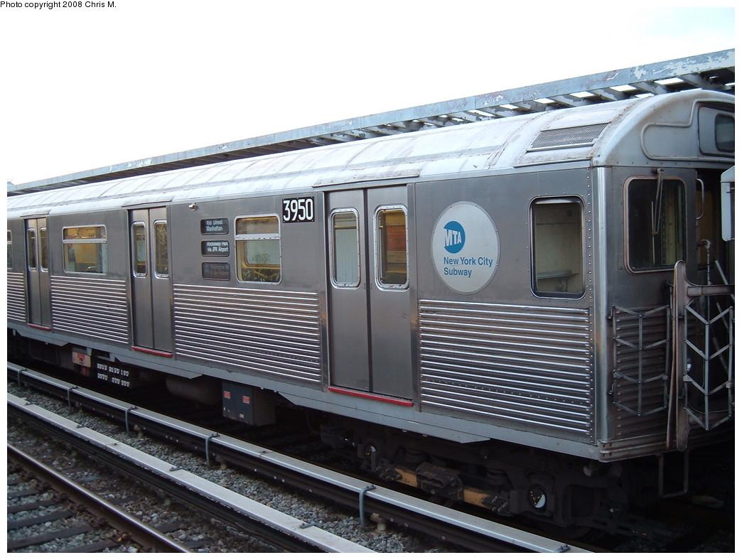 (222k, 1044x788)<br><b>Country:</b> United States<br><b>City:</b> New York<br><b>System:</b> New York City Transit<br><b>Line:</b> IND Rockaway<br><b>Location:</b> Beach 105th Street/Seaside <br><b>Route:</b> A<br><b>Car:</b> R-38 (St. Louis, 1966-1967)  3950 <br><b>Photo by:</b> Chris M.<br><b>Date:</b> 4/5/2008<br><b>Viewed (this week/total):</b> 0 / 1511