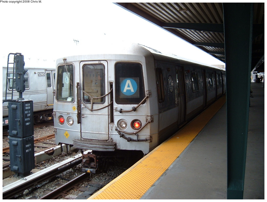 (214k, 1044x788)<br><b>Country:</b> United States<br><b>City:</b> New York<br><b>System:</b> New York City Transit<br><b>Line:</b> IND Rockaway<br><b>Location:</b> Rockaway Park/Beach 116th Street <br><b>Route:</b> A<br><b>Car:</b> R-44 (St. Louis, 1971-73) 5272 <br><b>Photo by:</b> Chris M.<br><b>Date:</b> 4/6/2008<br><b>Viewed (this week/total):</b> 1 / 1447