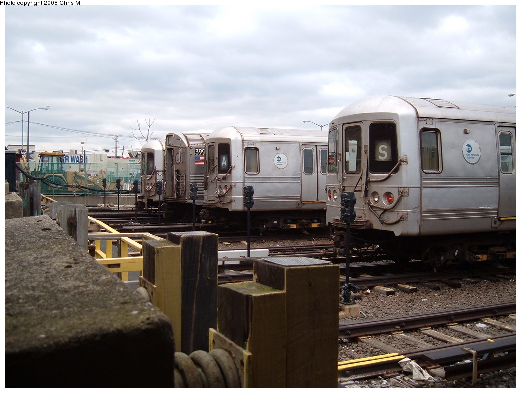(208k, 1044x788)<br><b>Country:</b> United States<br><b>City:</b> New York<br><b>System:</b> New York City Transit<br><b>Location:</b> Rockaway Park Yard<br><b>Route:</b> A<br><b>Car:</b> R-44 (St. Louis, 1971-73) 5394 <br><b>Photo by:</b> Chris M.<br><b>Date:</b> 4/6/2008<br><b>Viewed (this week/total):</b> 3 / 1839