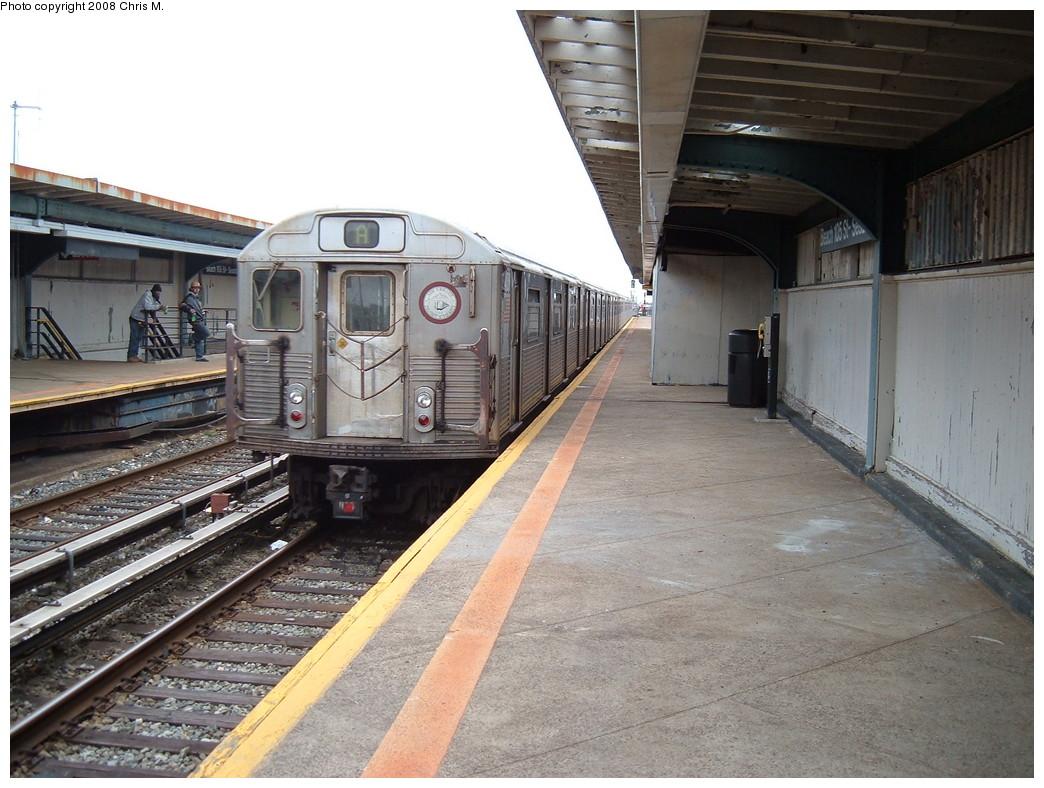 (237k, 1044x788)<br><b>Country:</b> United States<br><b>City:</b> New York<br><b>System:</b> New York City Transit<br><b>Line:</b> IND Rockaway<br><b>Location:</b> Beach 105th Street/Seaside <br><b>Route:</b> A<br><b>Car:</b> R-38 (St. Louis, 1966-1967)  4138 <br><b>Photo by:</b> Chris M.<br><b>Date:</b> 4/6/2008<br><b>Viewed (this week/total):</b> 2 / 1446