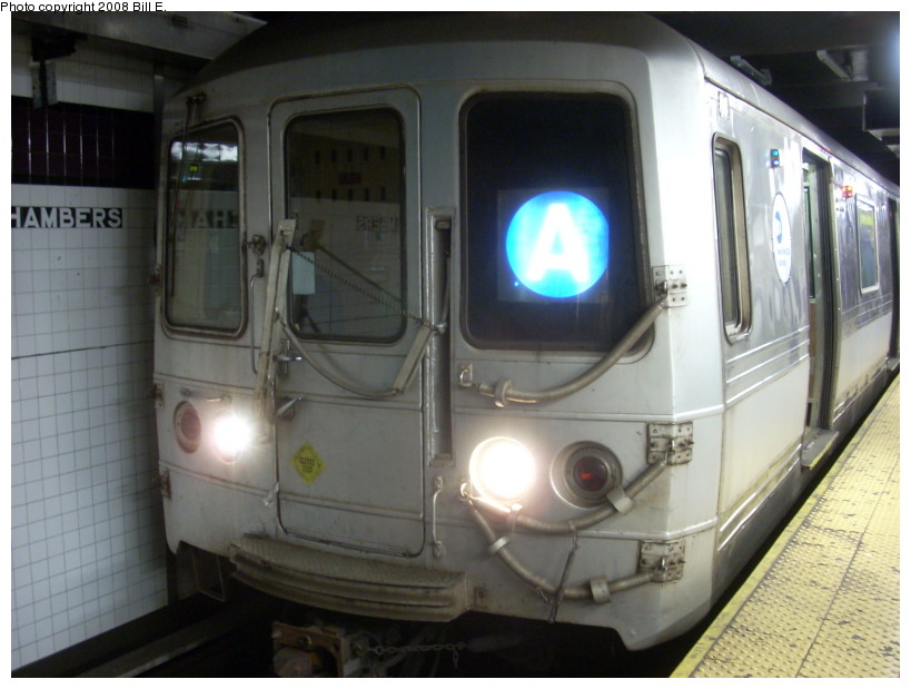 (146k, 819x619)<br><b>Country:</b> United States<br><b>City:</b> New York<br><b>System:</b> New York City Transit<br><b>Line:</b> IND 8th Avenue Line<br><b>Location:</b> Chambers Street/World Trade Center <br><b>Route:</b> A<br><b>Car:</b> R-44 (St. Louis, 1971-73)  <br><b>Photo by:</b> Bill E.<br><b>Date:</b> 4/5/2008<br><b>Viewed (this week/total):</b> 1 / 1660