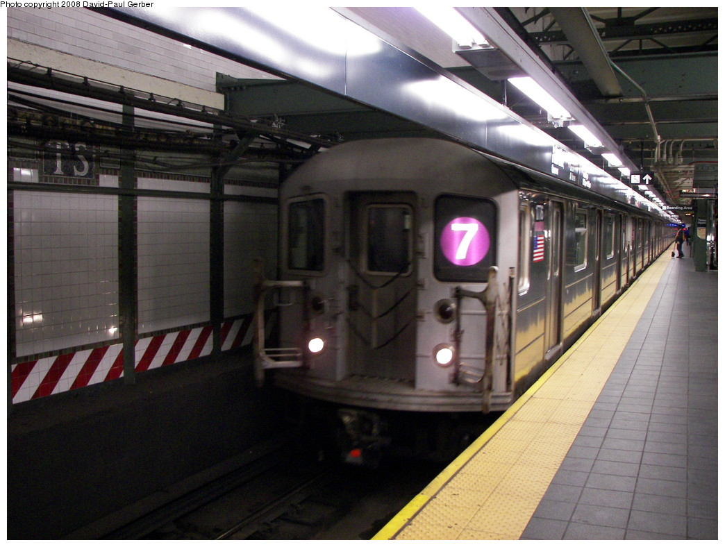 (270k, 1044x788)<br><b>Country:</b> United States<br><b>City:</b> New York<br><b>System:</b> New York City Transit<br><b>Line:</b> IRT Flushing Line<br><b>Location:</b> Times Square <br><b>Route:</b> 7<br><b>Car:</b> R-62A (Bombardier, 1984-1987)  1716 <br><b>Photo by:</b> David-Paul Gerber<br><b>Date:</b> 4/8/2008<br><b>Viewed (this week/total):</b> 1 / 1867