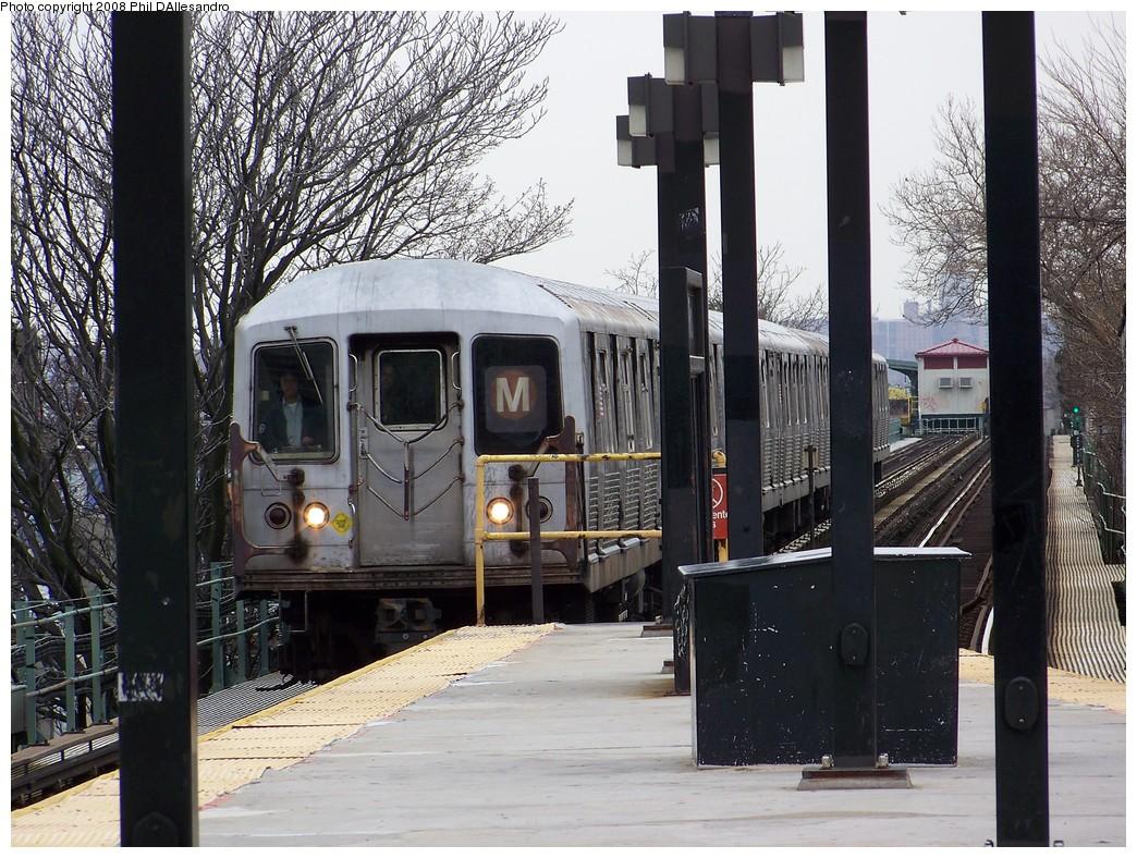 (287k, 1044x788)<br><b>Country:</b> United States<br><b>City:</b> New York<br><b>System:</b> New York City Transit<br><b>Line:</b> BMT Myrtle Avenue Line<br><b>Location:</b> Fresh Pond Road <br><b>Route:</b> M<br><b>Car:</b> R-42 (St. Louis, 1969-1970)  4803 <br><b>Photo by:</b> Philip D'Allesandro<br><b>Date:</b> 4/7/2008<br><b>Viewed (this week/total):</b> 2 / 2169