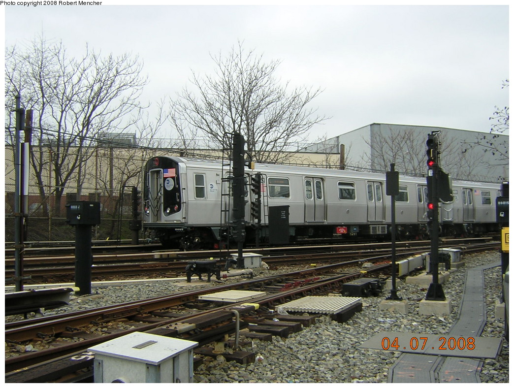 (297k, 1044x788)<br><b>Country:</b> United States<br><b>City:</b> New York<br><b>System:</b> New York City Transit<br><b>Line:</b> BMT Canarsie Line<br><b>Location:</b> Rockaway Parkway <br><b>Car:</b> R-160A-1 (Alstom, 2005-2008, 4 car sets)  8352 <br><b>Photo by:</b> Robert Mencher<br><b>Date:</b> 4/7/2008<br><b>Viewed (this week/total):</b> 2 / 2173