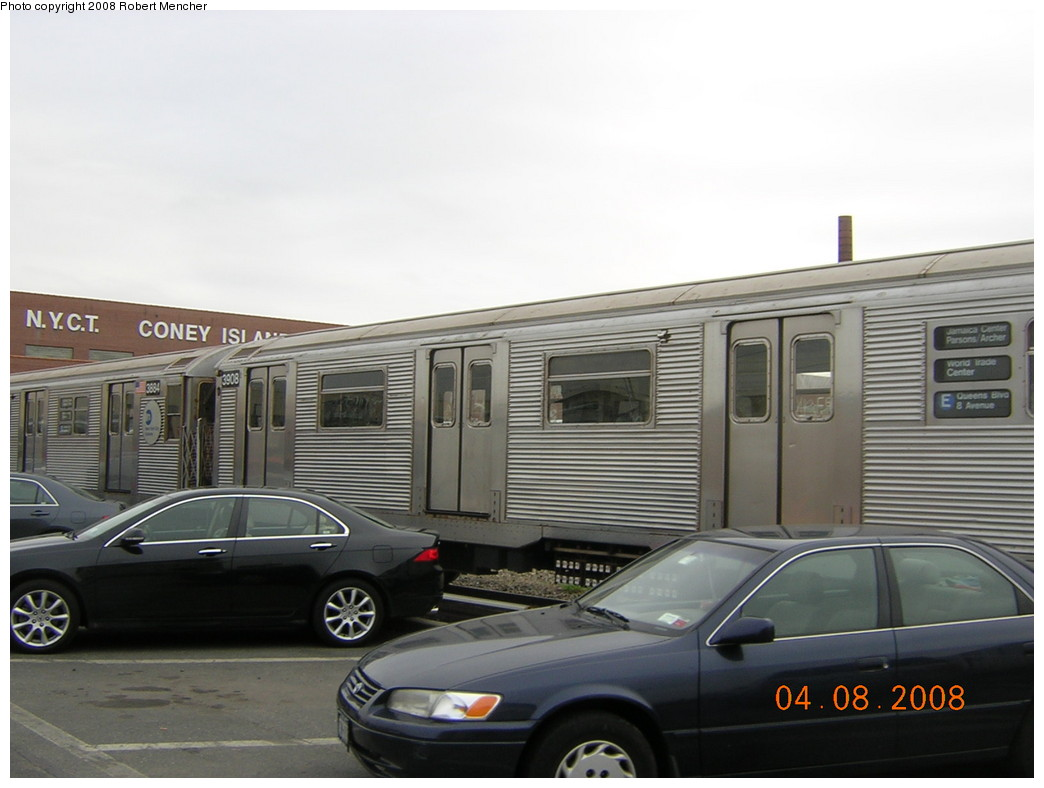 (186k, 1044x788)<br><b>Country:</b> United States<br><b>City:</b> New York<br><b>System:</b> New York City Transit<br><b>Location:</b> Coney Island Yard<br><b>Car:</b> R-32 (Budd, 1964)  3908 <br><b>Photo by:</b> Robert Mencher<br><b>Date:</b> 4/8/2008<br><b>Viewed (this week/total):</b> 1 / 1324