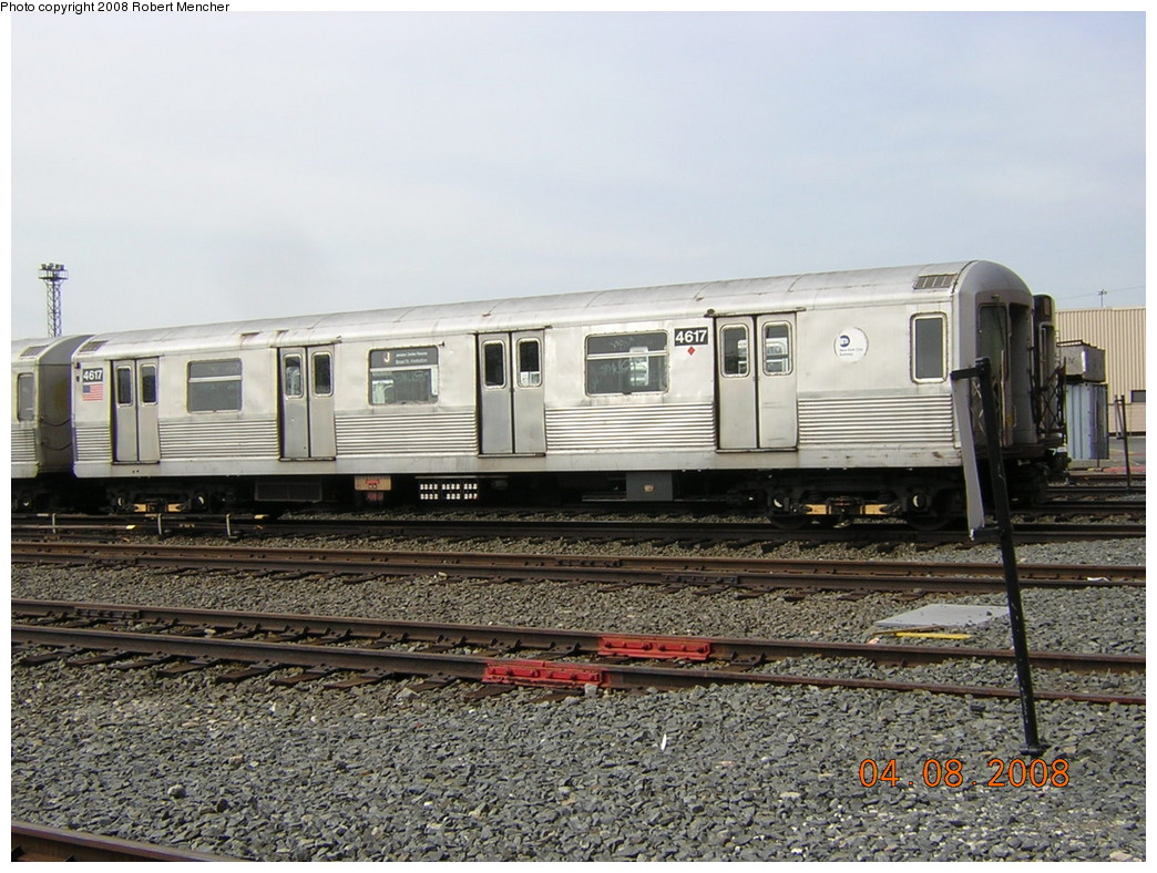 (275k, 1044x788)<br><b>Country:</b> United States<br><b>City:</b> New York<br><b>System:</b> New York City Transit<br><b>Location:</b> Coney Island Yard<br><b>Car:</b> R-42 (St. Louis, 1969-1970)  4617 <br><b>Photo by:</b> Robert Mencher<br><b>Date:</b> 4/8/2008<br><b>Viewed (this week/total):</b> 0 / 1187