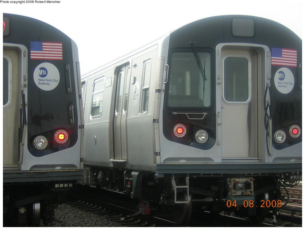 (191k, 1044x788)<br><b>Country:</b> United States<br><b>City:</b> New York<br><b>System:</b> New York City Transit<br><b>Location:</b> Coney Island Yard<br><b>Car:</b> R-160B (Kawasaki, 2005-2008)  8933 <br><b>Photo by:</b> Robert Mencher<br><b>Date:</b> 4/8/2008<br><b>Viewed (this week/total):</b> 0 / 1867