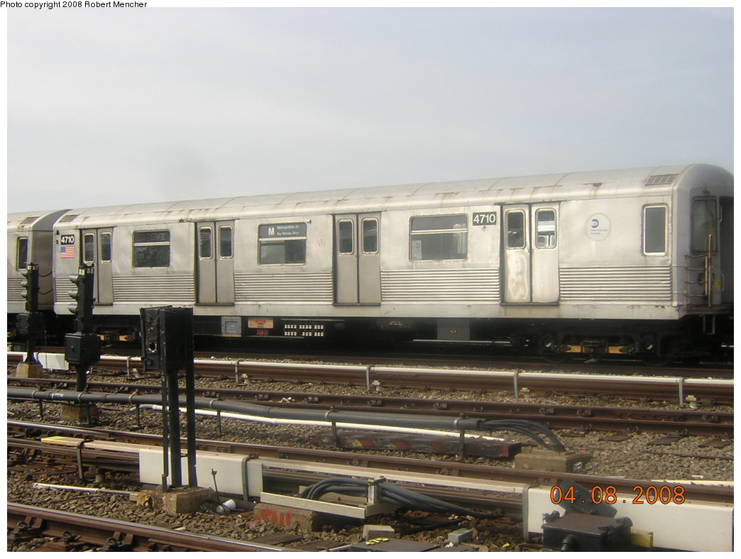(223k, 1044x788)<br><b>Country:</b> United States<br><b>City:</b> New York<br><b>System:</b> New York City Transit<br><b>Location:</b> Coney Island Yard<br><b>Car:</b> R-42 (St. Louis, 1969-1970)  4710 <br><b>Photo by:</b> Robert Mencher<br><b>Date:</b> 4/8/2008<br><b>Viewed (this week/total):</b> 2 / 1320
