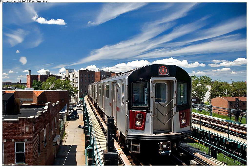 (305k, 1020x689)<br><b>Country:</b> United States<br><b>City:</b> New York<br><b>System:</b> New York City Transit<br><b>Line:</b> IRT Brooklyn Line<br><b>Location:</b> Saratoga Avenue <br><b>Route:</b> 4<br><b>Car:</b> R-142A (Supplemental Order, Kawasaki, 2003-2004)  7731 <br><b>Photo by:</b> Fred Guenther<br><b>Date:</b> 7/22/2007<br><b>Viewed (this week/total):</b> 0 / 4307