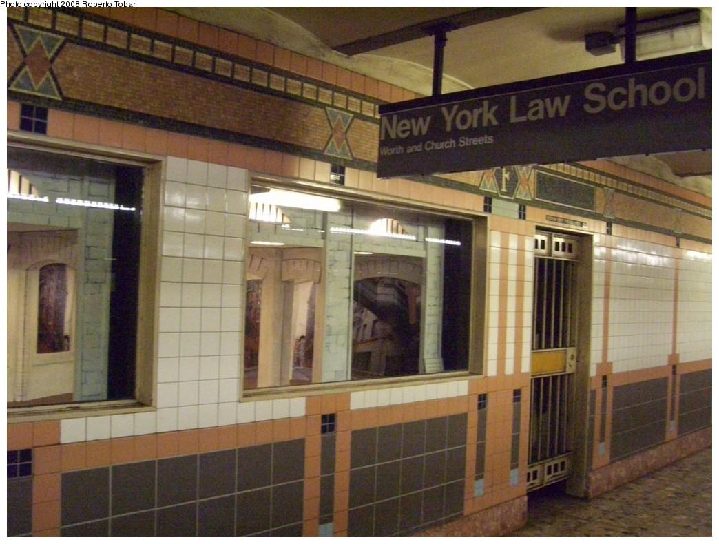 (213k, 1044x790)<br><b>Country:</b> United States<br><b>City:</b> New York<br><b>System:</b> New York City Transit<br><b>Line:</b> IRT West Side Line<br><b>Location:</b> Franklin Street <br><b>Photo by:</b> Roberto C. Tobar<br><b>Date:</b> 4/12/2008<br><b>Notes:</b> Art boxes.<br><b>Viewed (this week/total):</b> 0 / 1702