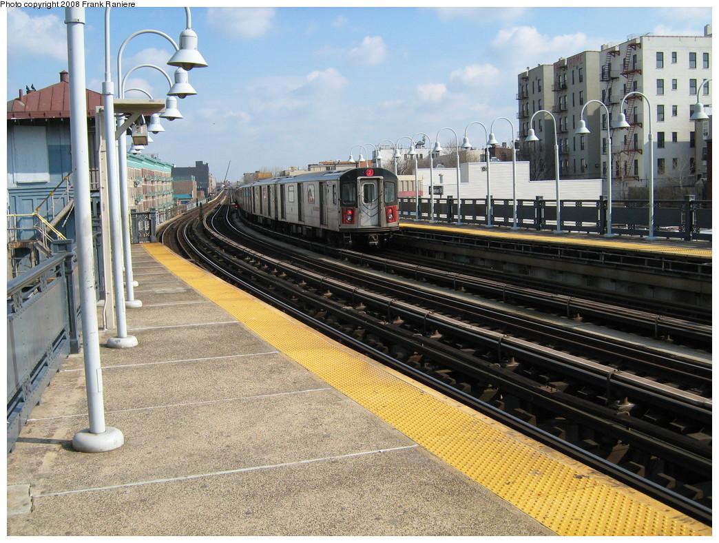 (301k, 1044x788)<br><b>Country:</b> United States<br><b>City:</b> New York<br><b>System:</b> New York City Transit<br><b>Line:</b> IRT White Plains Road Line<br><b>Location:</b> Freeman Street <br><b>Route:</b> 2<br><b>Car:</b> R-142 or R-142A (Number Unknown)  <br><b>Photo by:</b> Frank Raniere<br><b>Date:</b> 3/11/2008<br><b>Viewed (this week/total):</b> 1 / 2333