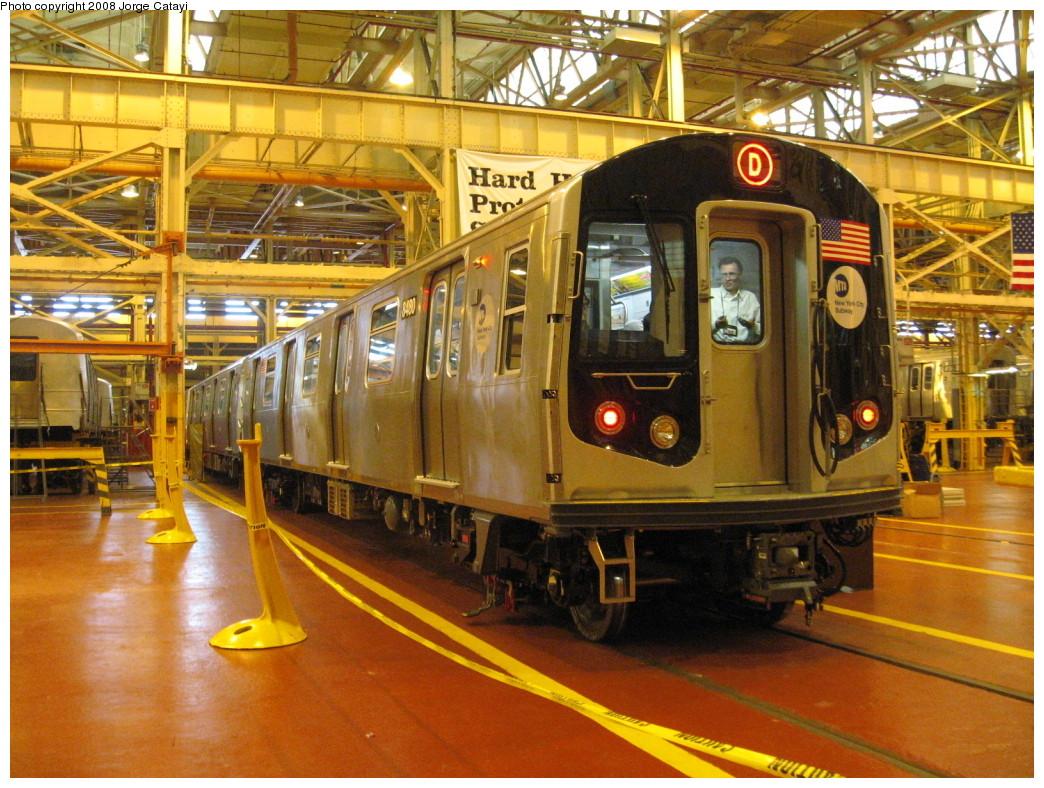 (288k, 1044x788)<br><b>Country:</b> United States<br><b>City:</b> New York<br><b>System:</b> New York City Transit<br><b>Location:</b> Coney Island Shop/Overhaul & Repair Shop<br><b>Car:</b> R-160A-1 (Alstom, 2005-2008, 4 car sets)  8480 <br><b>Photo by:</b> Jorge Catayi<br><b>Date:</b> 4/12/2008<br><b>Viewed (this week/total):</b> 1 / 3013