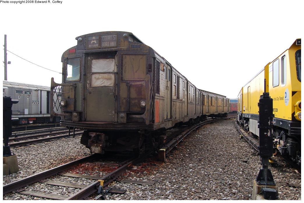 (282k, 1044x699)<br><b>Country:</b> United States<br><b>City:</b> New York<br><b>System:</b> New York City Transit<br><b>Location:</b> Coney Island Yard<br><b>Car:</b> R-6-3 (American Car & Foundry, 1935)  923 <br><b>Photo by:</b> Edward R. Coffey<br><b>Date:</b> 4/12/2008<br><b>Viewed (this week/total):</b> 6 / 2657