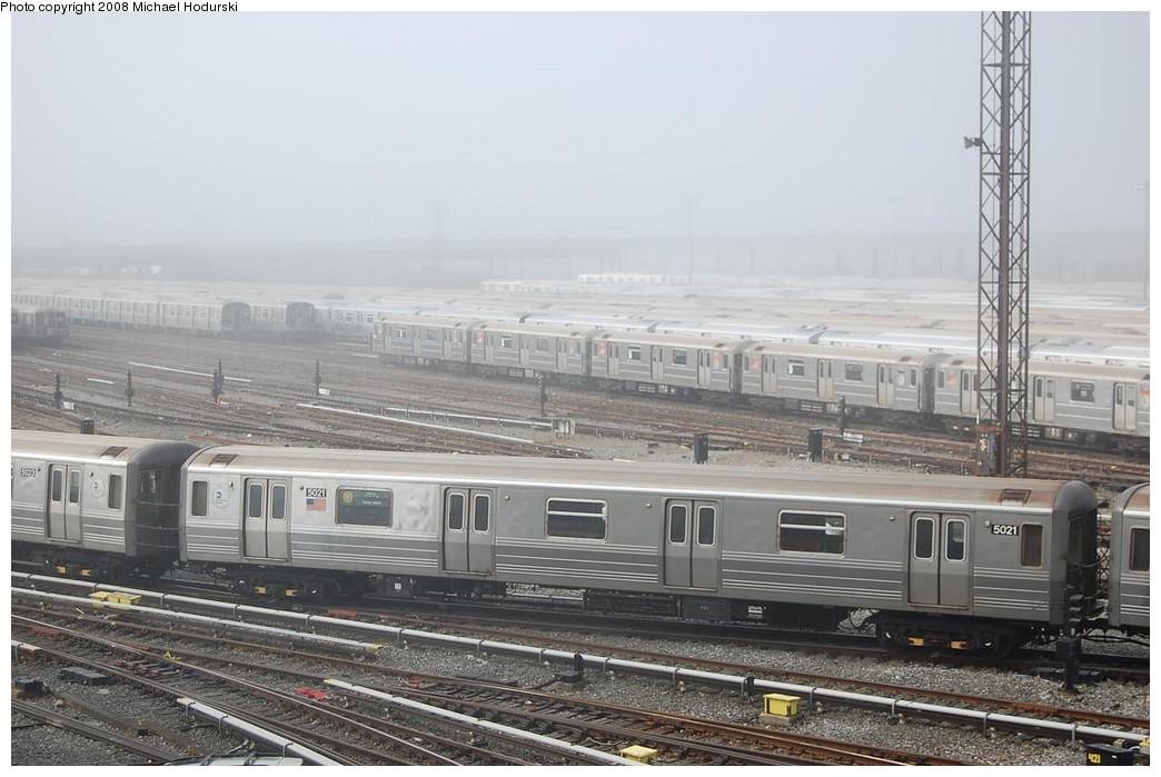 (211k, 1044x699)<br><b>Country:</b> United States<br><b>City:</b> New York<br><b>System:</b> New York City Transit<br><b>Location:</b> Coney Island Yard<br><b>Car:</b> R-68A (Kawasaki, 1988-1989)  5021 <br><b>Photo by:</b> Michael Hodurski<br><b>Date:</b> 4/12/2008<br><b>Viewed (this week/total):</b> 0 / 1846