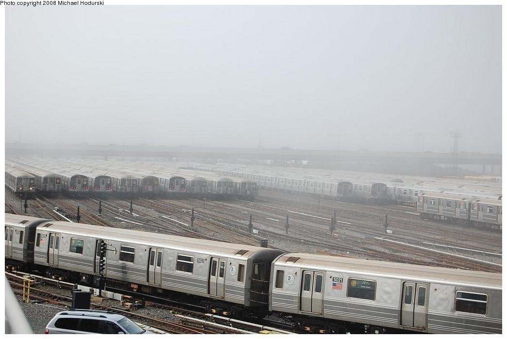 (194k, 1044x699)<br><b>Country:</b> United States<br><b>City:</b> New York<br><b>System:</b> New York City Transit<br><b>Location:</b> Coney Island Yard<br><b>Car:</b> R-68A (Kawasaki, 1988-1989)  5023 <br><b>Photo by:</b> Michael Hodurski<br><b>Date:</b> 4/12/2008<br><b>Viewed (this week/total):</b> 1 / 1936