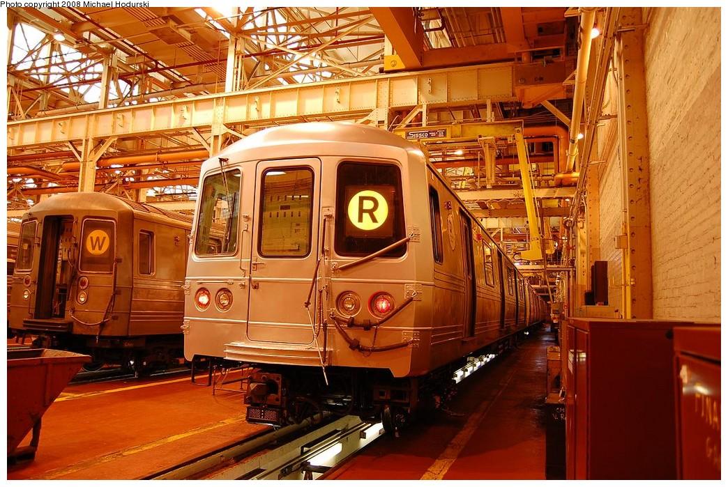 (292k, 1044x699)<br><b>Country:</b> United States<br><b>City:</b> New York<br><b>System:</b> New York City Transit<br><b>Location:</b> Coney Island Shop/Overhaul & Repair Shop<br><b>Car:</b> R-46 (Pullman-Standard, 1974-75) 5966 <br><b>Photo by:</b> Michael Hodurski<br><b>Date:</b> 4/12/2008<br><b>Viewed (this week/total):</b> 0 / 1344