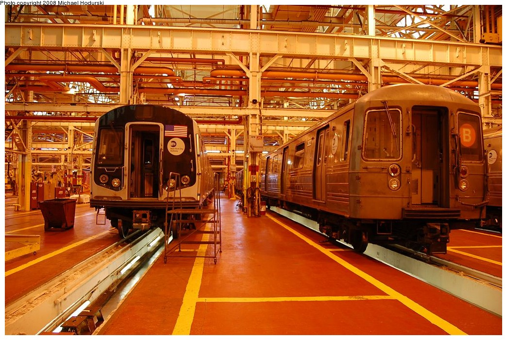 (285k, 1044x699)<br><b>Country:</b> United States<br><b>City:</b> New York<br><b>System:</b> New York City Transit<br><b>Location:</b> Coney Island Shop/Overhaul & Repair Shop<br><b>Car:</b> R-68 (Westinghouse-Amrail, 1986-1988)  2822 <br><b>Photo by:</b> Michael Hodurski<br><b>Date:</b> 4/12/2008<br><b>Viewed (this week/total):</b> 0 / 1415