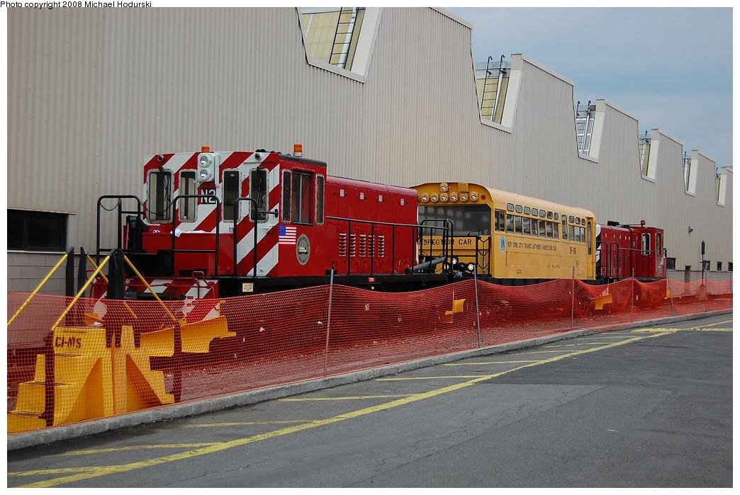 (241k, 1044x699)<br><b>Country:</b> United States<br><b>City:</b> New York<br><b>System:</b> New York City Transit<br><b>Location:</b> Coney Island Yard<br><b>Car:</b> R-47 (SBK) Locomotive  N2 <br><b>Photo by:</b> Michael Hodurski<br><b>Date:</b> 4/12/2008<br><b>Viewed (this week/total):</b> 1 / 1252