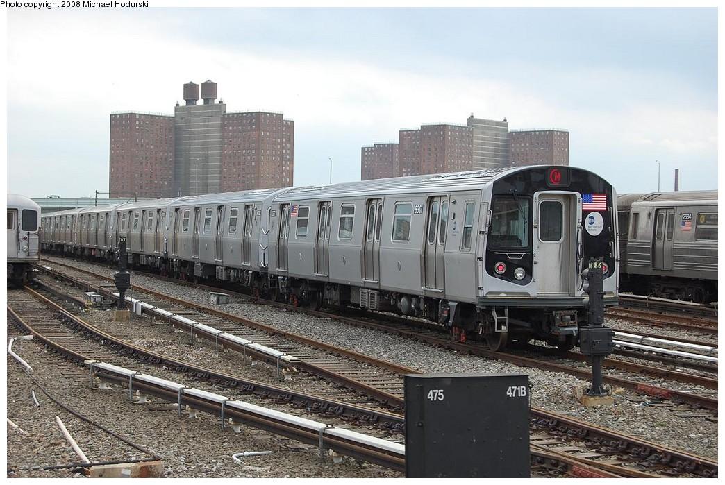 (260k, 1044x699)<br><b>Country:</b> United States<br><b>City:</b> New York<br><b>System:</b> New York City Transit<br><b>Location:</b> Coney Island Yard<br><b>Car:</b> R-160A-1 (Alstom, 2005-2008, 4 car sets)  8317 <br><b>Photo by:</b> Michael Hodurski<br><b>Date:</b> 4/12/2008<br><b>Viewed (this week/total):</b> 1 / 1466
