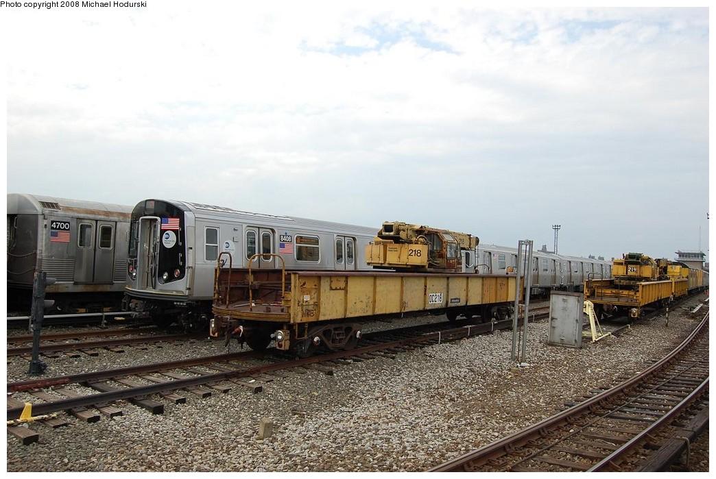 (239k, 1044x699)<br><b>Country:</b> United States<br><b>City:</b> New York<br><b>System:</b> New York City Transit<br><b>Location:</b> Coney Island Yard<br><b>Car:</b> Crane Car 218 <br><b>Photo by:</b> Michael Hodurski<br><b>Date:</b> 4/12/2008<br><b>Viewed (this week/total):</b> 1 / 1151