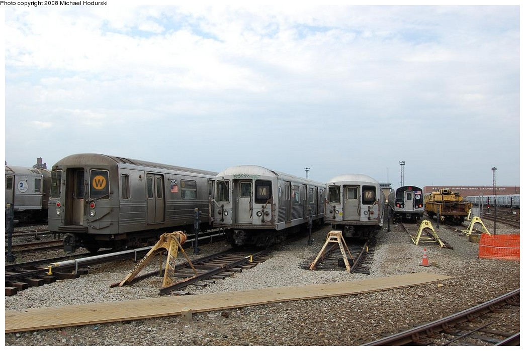(231k, 1044x699)<br><b>Country:</b> United States<br><b>City:</b> New York<br><b>System:</b> New York City Transit<br><b>Location:</b> Coney Island Yard<br><b>Car:</b> R-68 (Westinghouse-Amrail, 1986-1988)  2834 <br><b>Photo by:</b> Michael Hodurski<br><b>Date:</b> 4/12/2008<br><b>Viewed (this week/total):</b> 0 / 1581