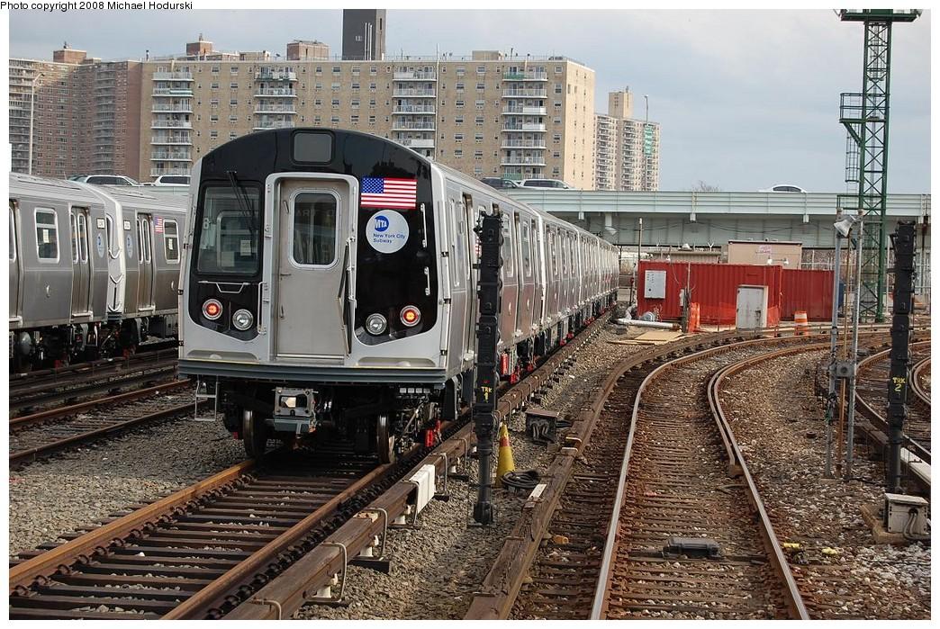 (328k, 1044x699)<br><b>Country:</b> United States<br><b>City:</b> New York<br><b>System:</b> New York City Transit<br><b>Location:</b> Coney Island Yard<br><b>Car:</b> R-160B (Kawasaki, 2005-2008)  8958 <br><b>Photo by:</b> Michael Hodurski<br><b>Date:</b> 4/12/2008<br><b>Viewed (this week/total):</b> 0 / 2242