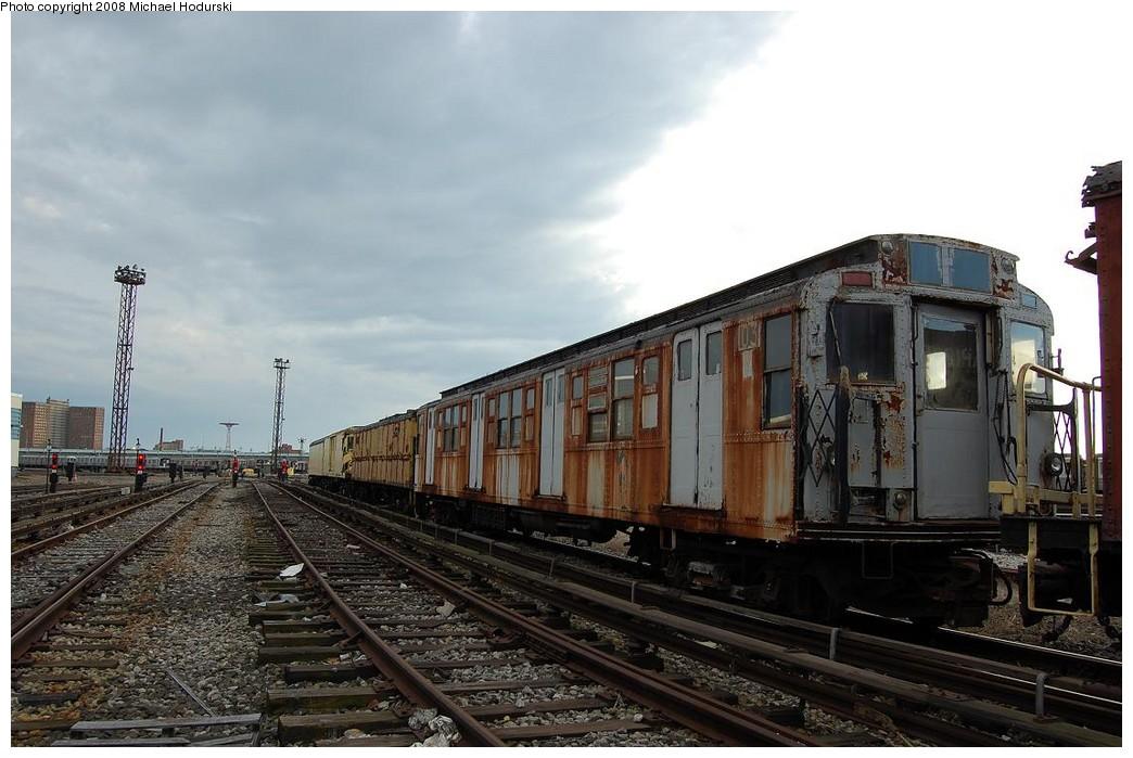 (212k, 1044x699)<br><b>Country:</b> United States<br><b>City:</b> New York<br><b>System:</b> New York City Transit<br><b>Location:</b> Coney Island Yard<br><b>Car:</b> R-1 (American Car & Foundry, 1930-1931) 103 <br><b>Photo by:</b> Michael Hodurski<br><b>Date:</b> 4/12/2008<br><b>Viewed (this week/total):</b> 5 / 2257