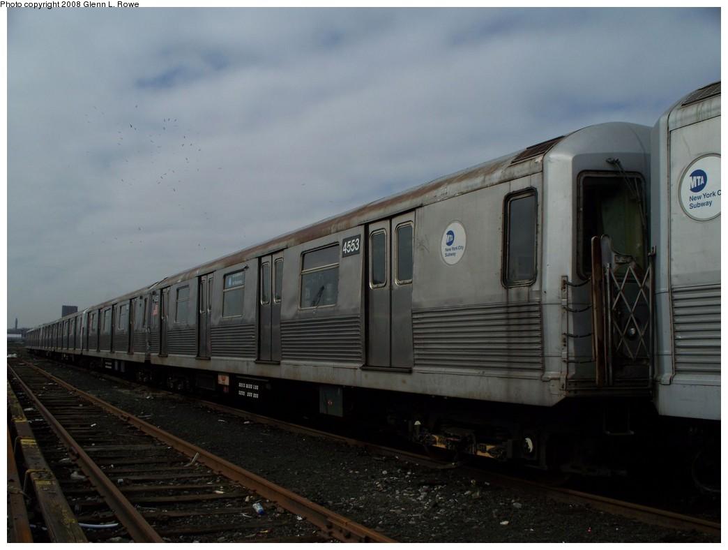(154k, 1044x788)<br><b>Country:</b> United States<br><b>City:</b> New York<br><b>System:</b> New York City Transit<br><b>Location:</b> 207th Street Yard<br><b>Car:</b> R-42 (St. Louis, 1969-1970)  4553 <br><b>Photo by:</b> Glenn L. Rowe<br><b>Date:</b> 4/8/2008<br><b>Viewed (this week/total):</b> 0 / 1196