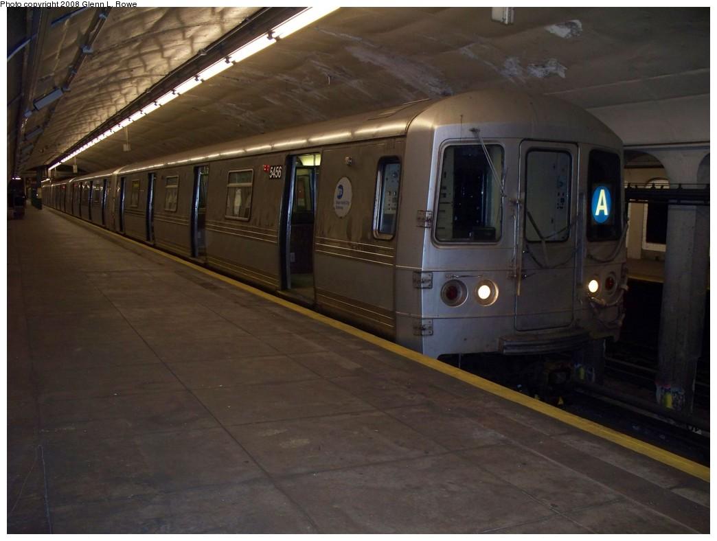 (170k, 1044x788)<br><b>Country:</b> United States<br><b>City:</b> New York<br><b>System:</b> New York City Transit<br><b>Line:</b> IND 8th Avenue Line<br><b>Location:</b> 190th Street/Overlook Terrace <br><b>Route:</b> A<br><b>Car:</b> R-44 (St. Louis, 1971-73) 5456 <br><b>Photo by:</b> Glenn L. Rowe<br><b>Date:</b> 4/9/2008<br><b>Viewed (this week/total):</b> 0 / 1773