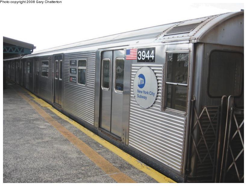 (132k, 820x620)<br><b>Country:</b> United States<br><b>City:</b> New York<br><b>System:</b> New York City Transit<br><b>Line:</b> BMT Culver Line<br><b>Location:</b> Kings Highway <br><b>Route:</b> F<br><b>Car:</b> R-32 (Budd, 1964)  3944 <br><b>Photo by:</b> Gary Chatterton<br><b>Date:</b> 4/12/2008<br><b>Viewed (this week/total):</b> 0 / 1456
