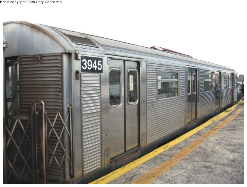 (126k, 820x620)<br><b>Country:</b> United States<br><b>City:</b> New York<br><b>System:</b> New York City Transit<br><b>Line:</b> BMT Culver Line<br><b>Location:</b> Kings Highway <br><b>Route:</b> F<br><b>Car:</b> R-32 (Budd, 1964)  3945 <br><b>Photo by:</b> Gary Chatterton<br><b>Date:</b> 4/12/2008<br><b>Viewed (this week/total):</b> 6 / 1360