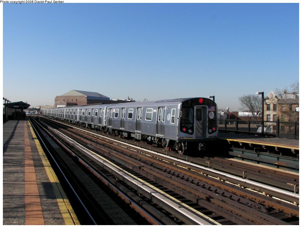 (251k, 1044x788)<br><b>Country:</b> United States<br><b>City:</b> New York<br><b>System:</b> New York City Transit<br><b>Line:</b> BMT West End Line<br><b>Location:</b> 18th Avenue <br><b>Route:</b> M<br><b>Car:</b> R-160A-1 (Alstom, 2005-2008, 4 car sets)  8425 <br><b>Photo by:</b> David-Paul Gerber<br><b>Date:</b> 4/17/2008<br><b>Viewed (this week/total):</b> 0 / 1915