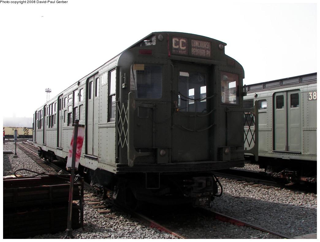 (235k, 1044x788)<br><b>Country:</b> United States<br><b>City:</b> New York<br><b>System:</b> New York City Transit<br><b>Location:</b> Coney Island Yard<br><b>Car:</b> R-4 (American Car & Foundry, 1932-1933) 401 <br><b>Photo by:</b> David-Paul Gerber<br><b>Date:</b> 4/12/2008<br><b>Viewed (this week/total):</b> 1 / 1568