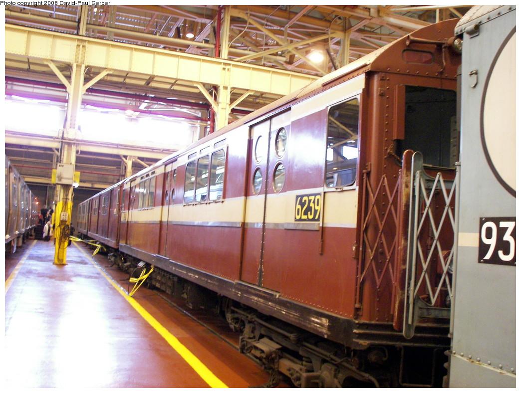 (297k, 1044x788)<br><b>Country:</b> United States<br><b>City:</b> New York<br><b>System:</b> New York City Transit<br><b>Location:</b> Coney Island Yard<br><b>Car:</b> R-15 (American Car & Foundry, 1950) 6239 <br><b>Photo by:</b> David-Paul Gerber<br><b>Date:</b> 4/12/2008<br><b>Viewed (this week/total):</b> 0 / 1370