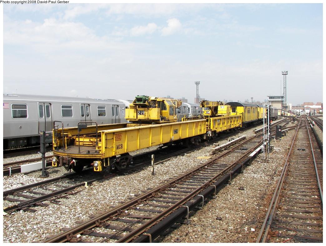 (330k, 1044x788)<br><b>Country:</b> United States<br><b>City:</b> New York<br><b>System:</b> New York City Transit<br><b>Location:</b> Coney Island Yard<br><b>Car:</b> Crane Car 219 <br><b>Photo by:</b> David-Paul Gerber<br><b>Date:</b> 4/12/2008<br><b>Viewed (this week/total):</b> 0 / 1282