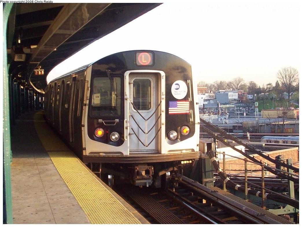 (218k, 1044x787)<br><b>Country:</b> United States<br><b>City:</b> New York<br><b>System:</b> New York City Transit<br><b>Line:</b> BMT Canarsie Line<br><b>Location:</b> Broadway Junction <br><b>Route:</b> L<br><b>Car:</b> R-143 (Kawasaki, 2001-2002) 8204 <br><b>Photo by:</b> Chris Reidy<br><b>Date:</b> 4/16/2008<br><b>Viewed (this week/total):</b> 2 / 1458