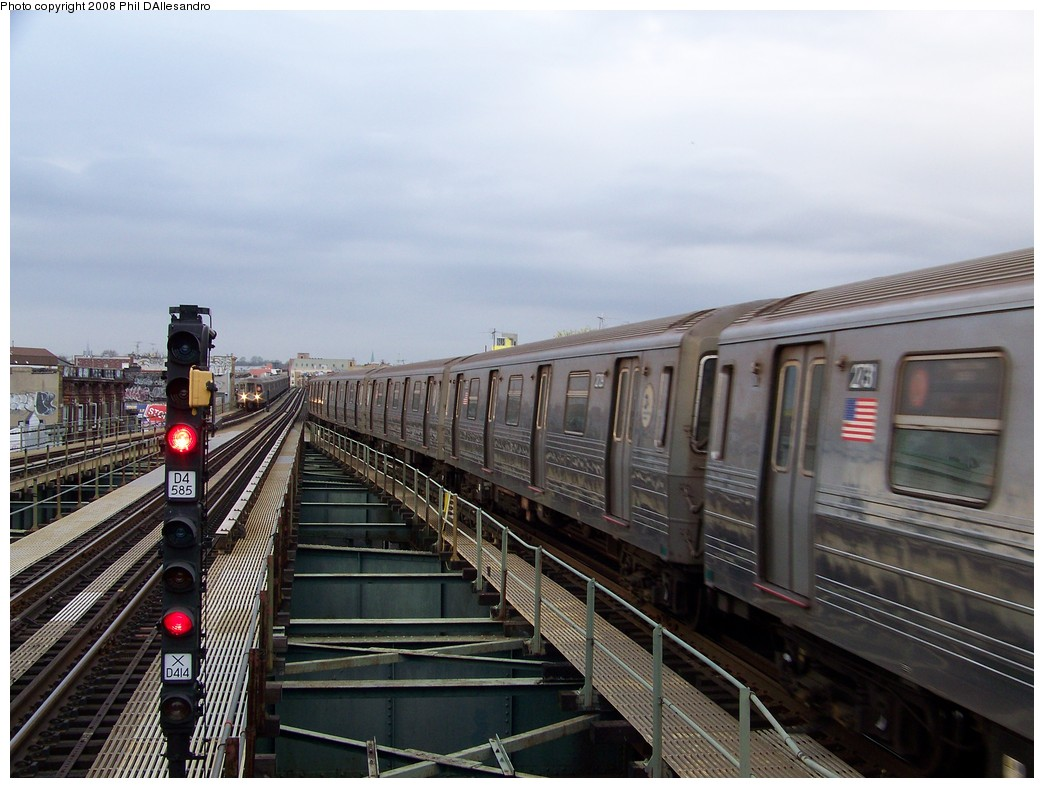 (204k, 1044x788)<br><b>Country:</b> United States<br><b>City:</b> New York<br><b>System:</b> New York City Transit<br><b>Line:</b> BMT West End Line<br><b>Location:</b> 62nd Street <br><b>Route:</b> D<br><b>Car:</b> R-68 (Westinghouse-Amrail, 1986-1988)  2729 <br><b>Photo by:</b> Philip D'Allesandro<br><b>Date:</b> 4/20/2008<br><b>Viewed (this week/total):</b> 0 / 1481