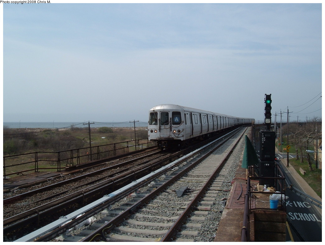 (200k, 1044x788)<br><b>Country:</b> United States<br><b>City:</b> New York<br><b>System:</b> New York City Transit<br><b>Line:</b> IND Rockaway<br><b>Location:</b> Beach 36th Street/Edgemere <br><b>Route:</b> A<br><b>Car:</b> R-44 (St. Louis, 1971-73) 5392 <br><b>Photo by:</b> Chris M.<br><b>Date:</b> 4/21/2008<br><b>Viewed (this week/total):</b> 0 / 2100
