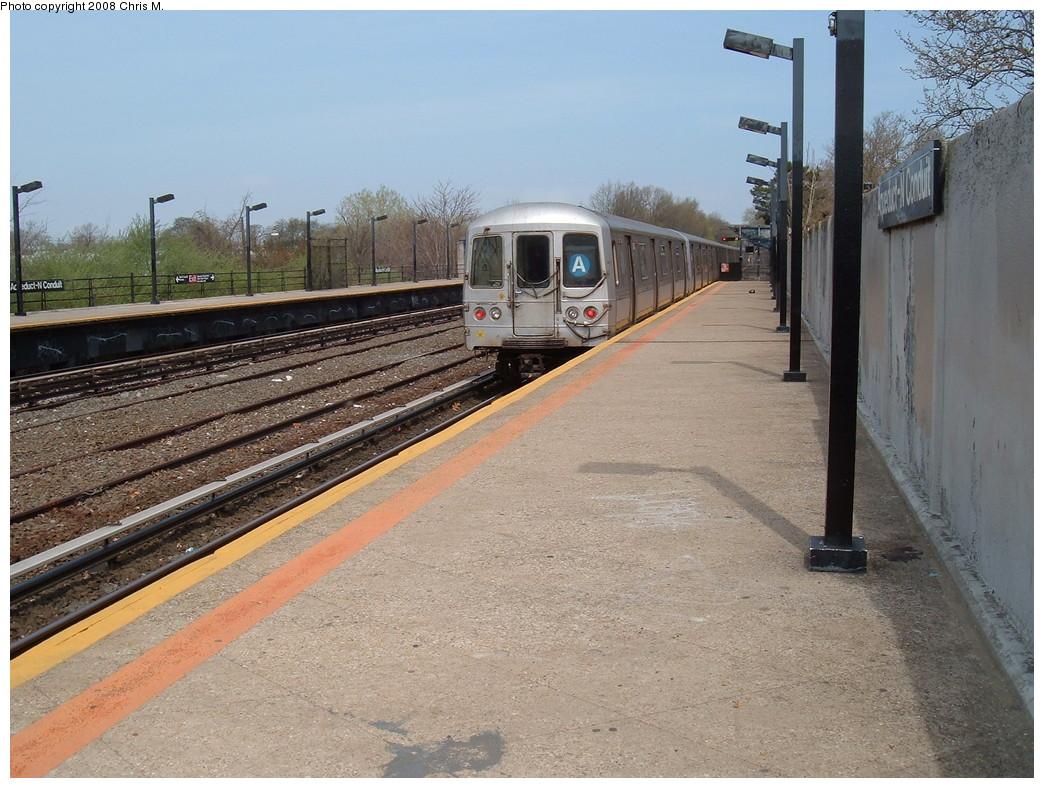 (257k, 1044x788)<br><b>Country:</b> United States<br><b>City:</b> New York<br><b>System:</b> New York City Transit<br><b>Line:</b> IND Rockaway<br><b>Location:</b> Aqueduct/North Conduit Avenue <br><b>Route:</b> A<br><b>Car:</b> R-44 (St. Louis, 1971-73) 5410 <br><b>Photo by:</b> Chris M.<br><b>Date:</b> 4/21/2008<br><b>Viewed (this week/total):</b> 1 / 1420