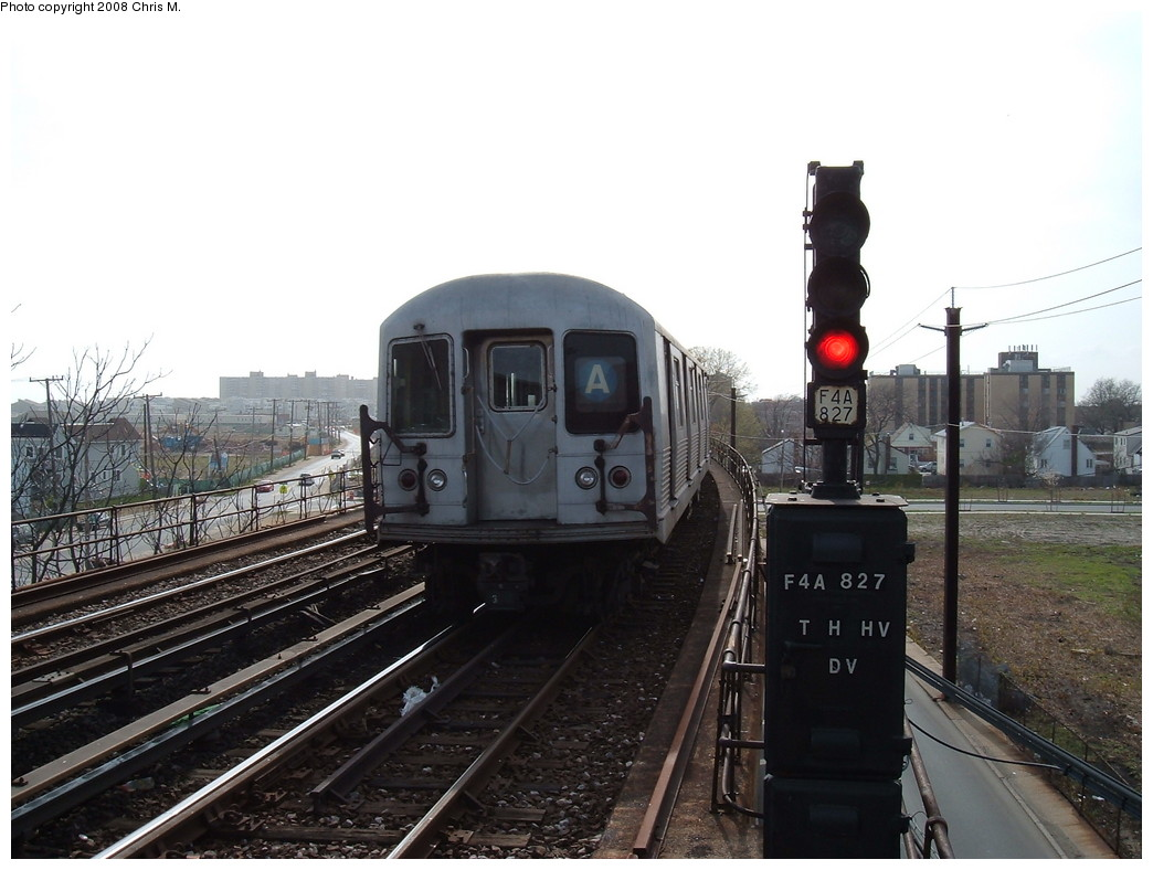 (197k, 1044x788)<br><b>Country:</b> United States<br><b>City:</b> New York<br><b>System:</b> New York City Transit<br><b>Line:</b> IND Rockaway<br><b>Location:</b> Beach 60th Street/Straiton <br><b>Route:</b> A<br><b>Car:</b> R-42 (St. Louis, 1969-1970)  4559 <br><b>Photo by:</b> Chris M.<br><b>Date:</b> 4/21/2008<br><b>Viewed (this week/total):</b> 0 / 1660